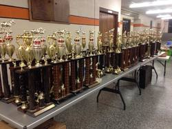Trophies from annual Banquet
